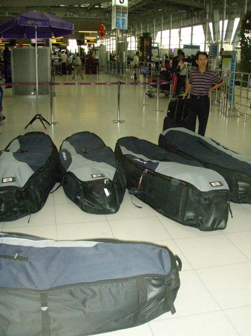 14 boards in 5 bags. Starboard testprogramm for 2010.