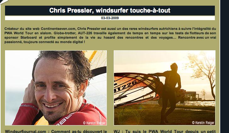 On the net (courtesy by windsurfjournal.com).
