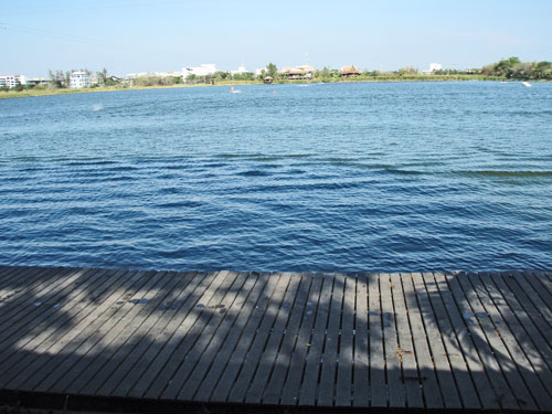 Taco lake at the Starboard headquarter. Nice for SUP or wakeboarding.