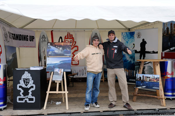 With Florian Lachauer from APM at the Starboard 2010 tent (Pic: Kerstin Reiger)