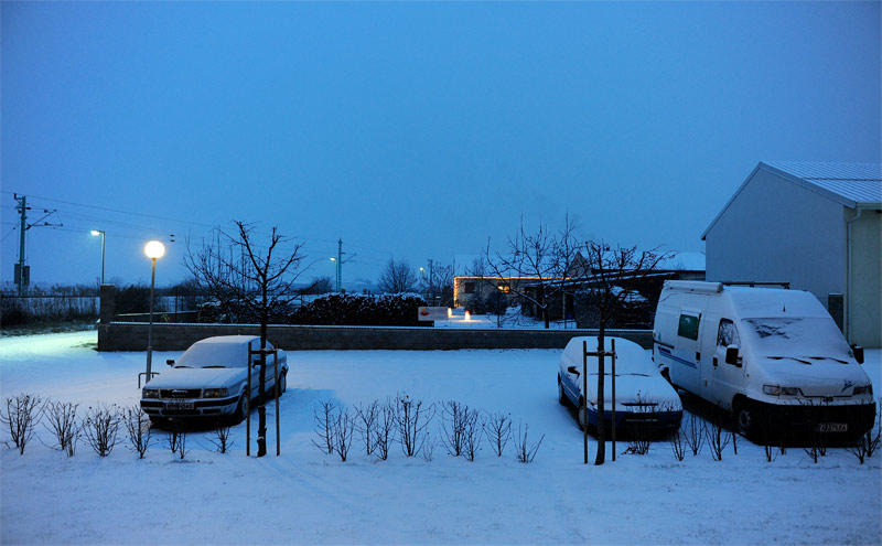 We had snow covering the Caravan (pic: myself)