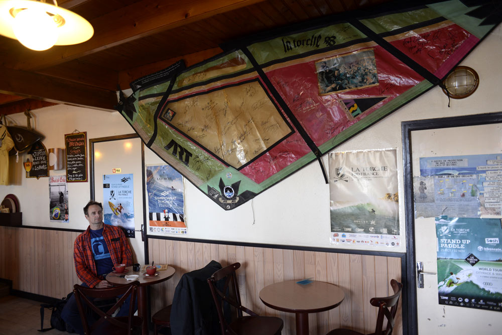 In the local creperie at La Torche (Pic: Kerstin Reiger)