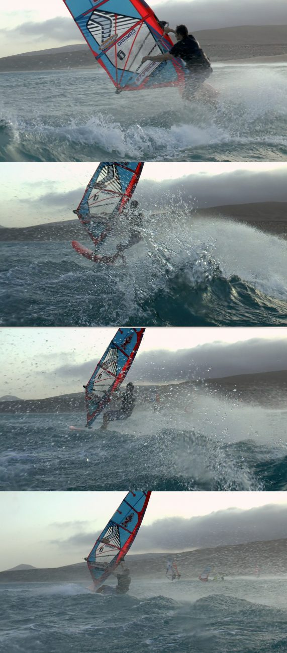 A sequence - outtakes from a video - of a little wave ride at Risco del Paso in August 2016 (filmed by Kerstin Reiger)
