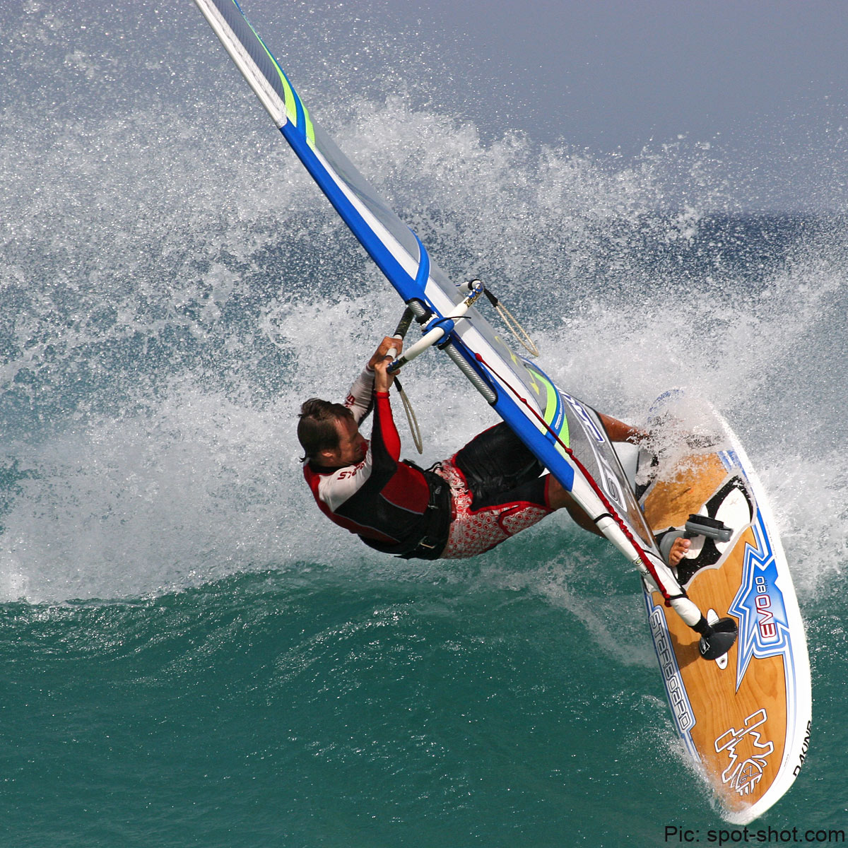 Wave action in Fuerte on a Challenger sail a few years ago (Pic: Roger Protzen)