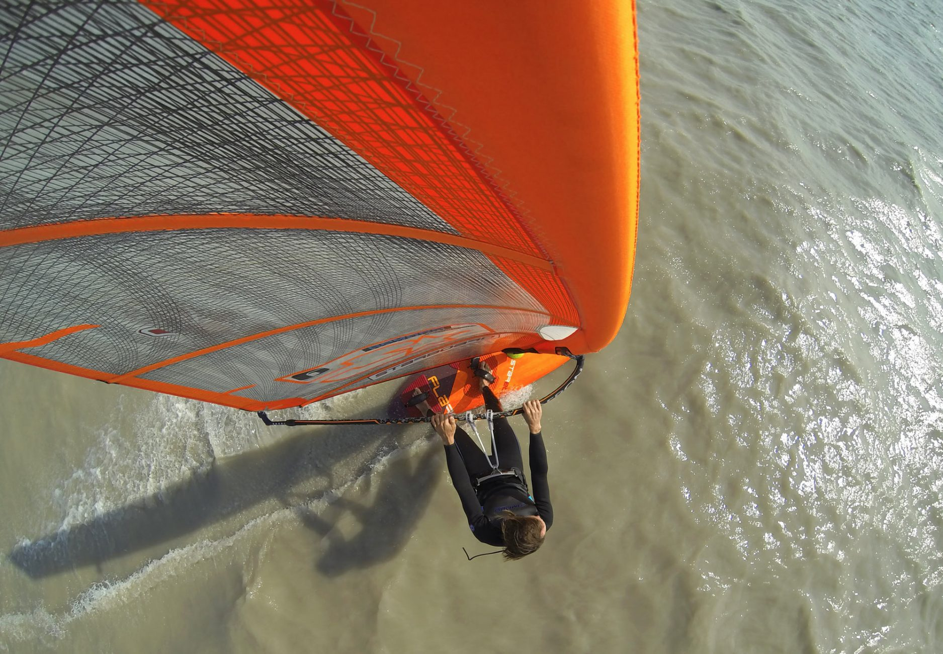 Gliding over the lake Neusiedl