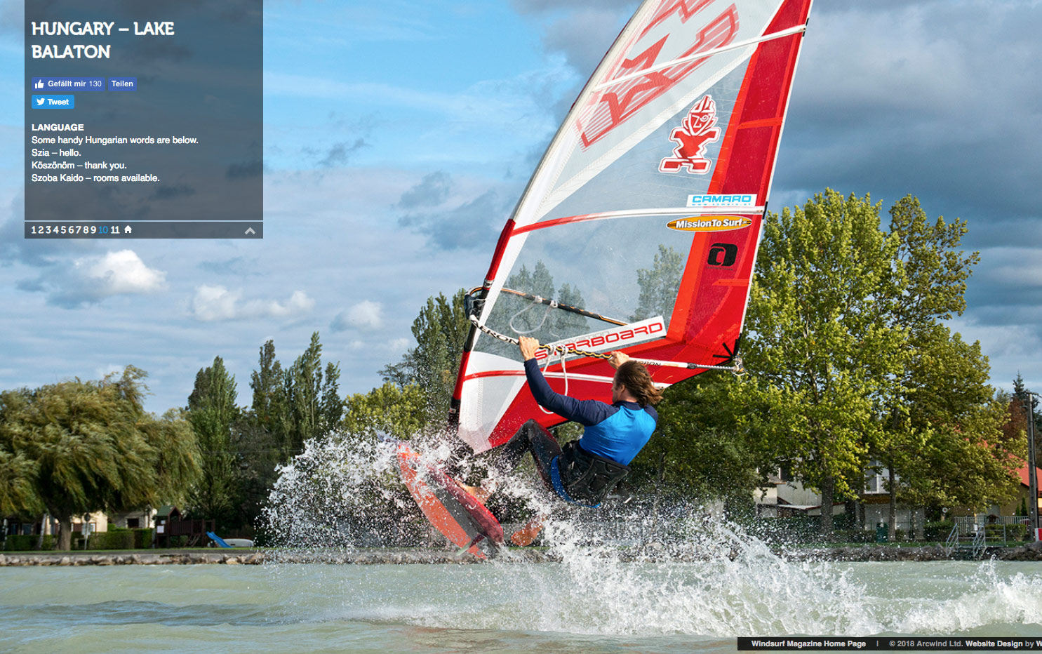 Willy Skipper action in the Windsurf magazine online page 10 Lake Balaton 2018