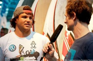 Philip received the Surfer of the Year trophy just 10 minutes after this interview.
